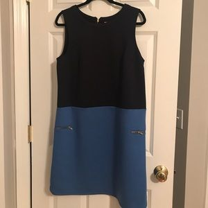 Color block navy blue and light blue dress (NEW)